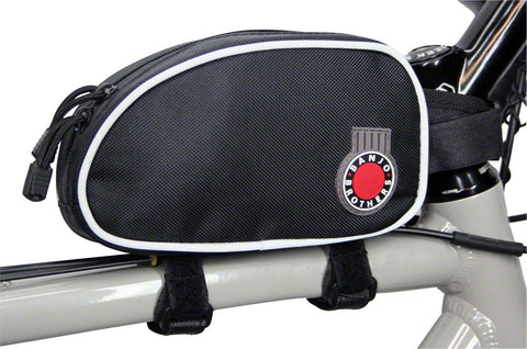 NEW Banjo Brothers Top Tube Bag: Black, LG