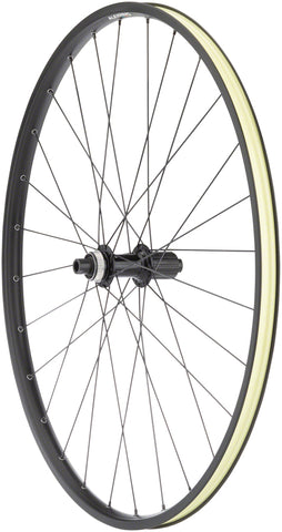 NEW Quality Wheels Value Double Wall Series Disc Rear Rear Wheel - 700, 12 x 142mm, Center-Lock, HG 11, Black