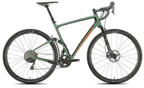 NEW 2020 Niner MCR 9 RDO Full Suspension Gravel Bike, 5-STAR SHIMANO GRX 800 1X, Olive Green/Orange