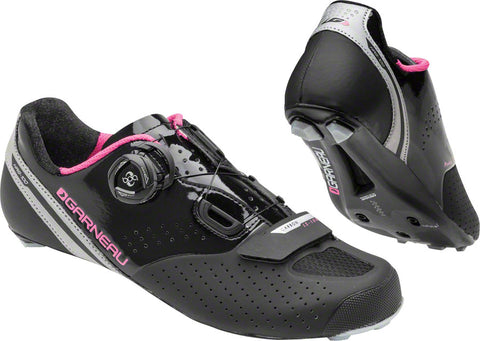 NEW Louis Garneau Carbon LS-100 II Women's Road Bike Cycling Shoe Black/Pink