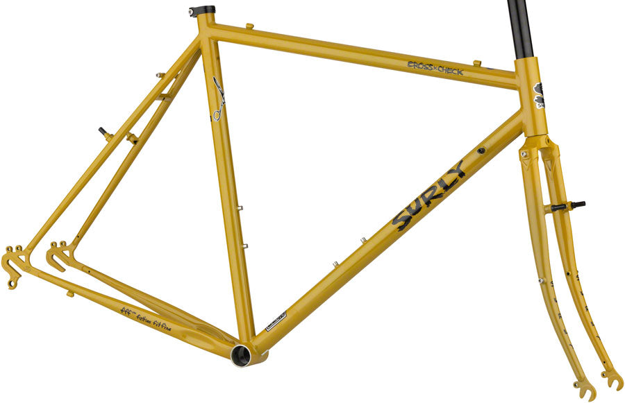 NEW Surly Cross Check Frameset - Stoned Ground Mustard Cyclocross Frame