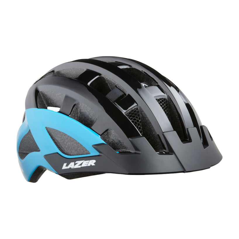 NEW Lazer Compact DLX Helmet Black/Blue One Size
