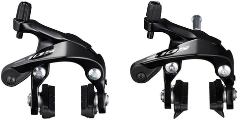 NEW Shimano BR-R7000 105 F+R Caliper Brake Set Black, CS51 Pads, Sunken Nuts