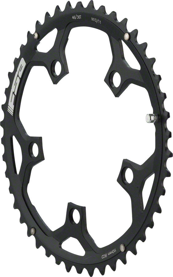 NEW FSA Pro Road N-10/11 110 x 46t Chainring, Black