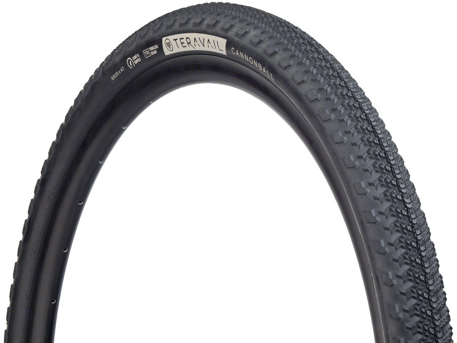 NEW Teravail Cannonball Tire - 650 x 47, Tubeless, Folding, Black, Light and Supple