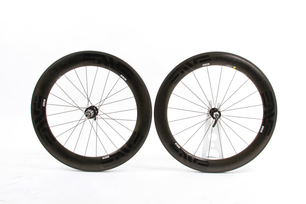 USED ENVE SES 7.8 Chris King Carbon Fiber Aero Wheelset TT Tri Road Bike