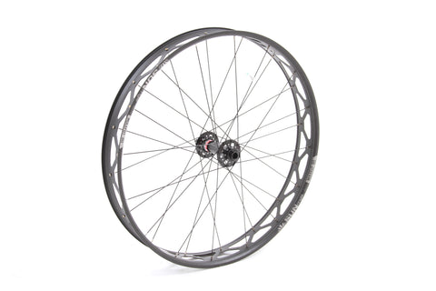 "NEW Sun Ringle Mulefut 80 26"" Alloy Fat Bike Front Wheel 6 Bolt Disc"