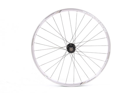 "USED Bontrager Rhythm Elite 26"" Alloy Clincher Front Wheel 6 Bolt Disc QR"