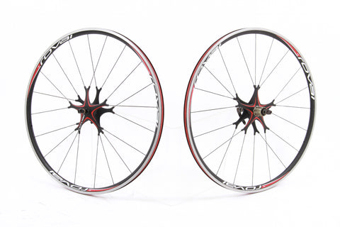 USED Roval Fusse Star E5 Alloy Aero 700c Clincher Wheelset 8-10 Sp Shimano