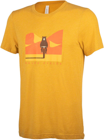 NEW Salsa Solar Bear T-Shirt - Yellow, Men's, X-Large
