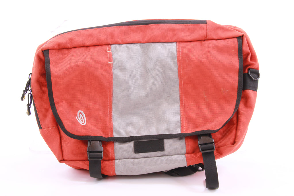 USED Timbuk2 Ram Convertible Messenger Bag/Backpack Orange Grey Commuter