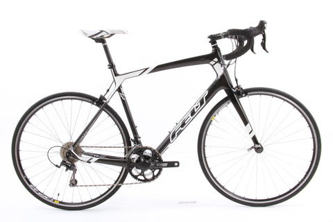 USED 2014 Felt Z5 61cm Carbon 105 Road Bike 2x10 Speed Black White