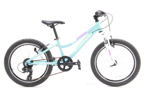 "USED Schwinn Cimarron 20"" Kids Mountain Bike Blue 7 speed Front Suspension"