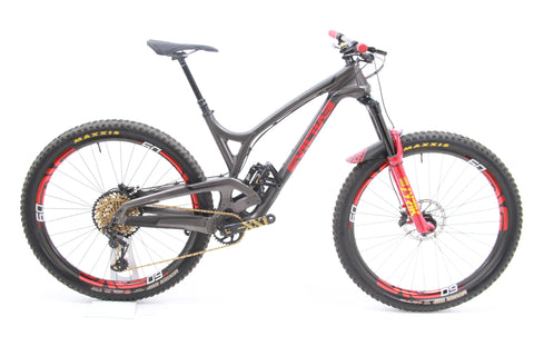"USED 2018 Evil Wreckoning Carbon Full Sus MTB Large 29"" SRAM Eagle ENVE Wheels"