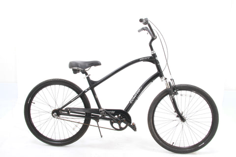 USED Electra Townie 3S Beach Cruiser 3 Speed Internal Gear Hub Black Front Shock