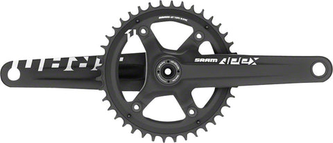 NEW SRAM Apex 1 Crankset - 170mm, 10/11-Speed, 42t, 110 Asymmetric BCD, GXP Spindle Interface, Black