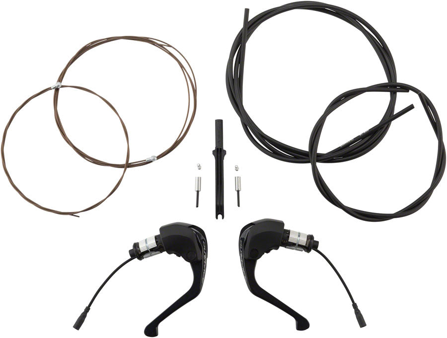 NEW Shimano Dura-Ace ST-R9160 TT Di2 Shifter/Brake Lever Set, with BC-9000 Cables and Housing
