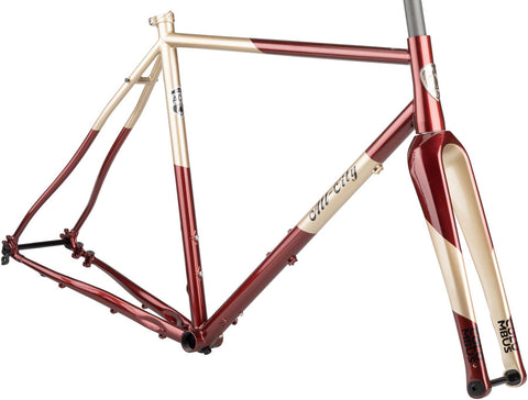 NEW All-City Cosmic Stallion - Currant and Cream All-Road Frame
