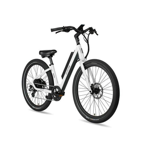 NEW 2020 Aventon Pace 500 Step Through E-Bike, Chalk White