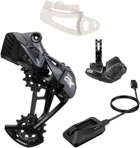 NEW SRAM GX Eagle AXS Upgrade Kit - Rear Derailleur, Battery, Eagle AXS Controller w/ Clamp, Charger/Cord, Chain Gap Tool, Black