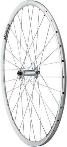 NEW Quality Wheels Front Road Rim Brake 700c 100mm QR Alex DA22 Silver / Shimano Tiagra RS400 Silver / DT Factory