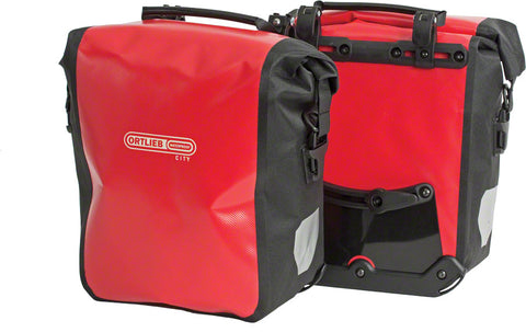 NEW Ortlieb Front-Roller City Front Pannier: Pair~ Red/Black