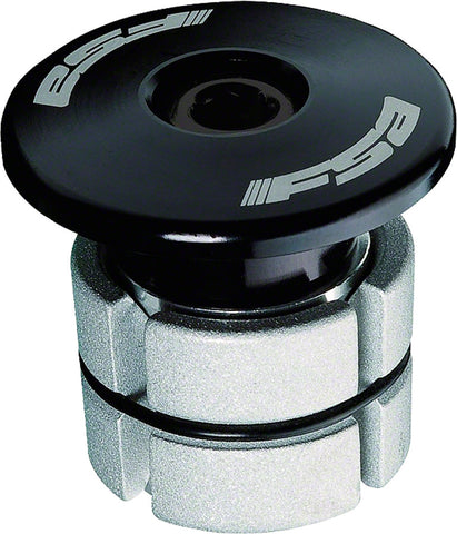 "NEW FSA Compressor 1-1/8"" Black Expander Plug and Top Cap"