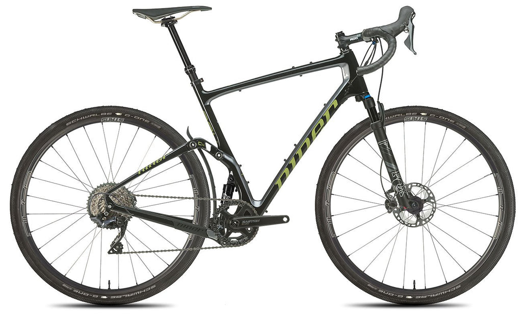 NEW 2020 Niner MCR 9 RDO Full Suspension Gravel Bike, 5-STAR SHIMANO GRX 800 1X, Black/Magnetic Gray