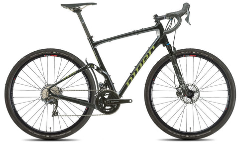 NEW 2020 Niner MCR 9 RDO Full Suspension Gravel Bike, 4-STAR SHIMANO GRX 800 2X, Black/Magnetic Gray