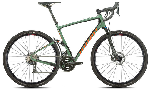 NEW 2020 Niner MCR 9 RDO Full Suspension Gravel Bike, 4-STAR SHIMANO GRX 800 2X, Olive Green/Orange