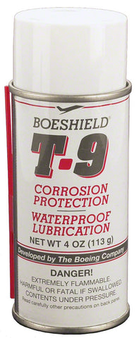 NEW Boeshield T9 Aerosol Chain Lube and Rust Inhibitor: 4oz