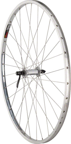 "NEW Quality Wheels CR-18 Front Wheel - 27"", QR x 100mm, Rim Brake, Polished/Silver, Clincher"