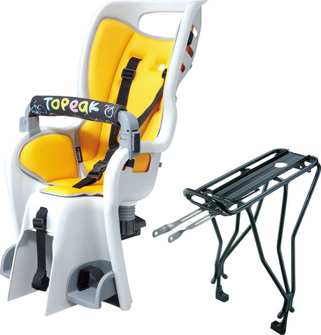 NEW Topeak BabySeat II with Disc Compatible Rack: Yellow