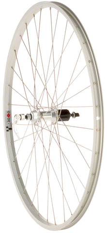 NEW Quality Wheels Value Series Silver Pavement Rear Wheel 700c Formula 130mm Freehub / Alex Y2000 Silver