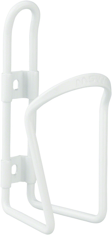 NEW MSW AC-100 Alloy Water Bottle Cage 6mm rod White