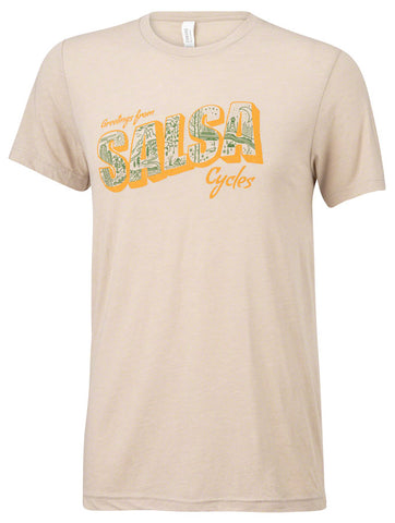 NEW Salsa Wish You Were Here T-Shirt - Men's, Natural, Small