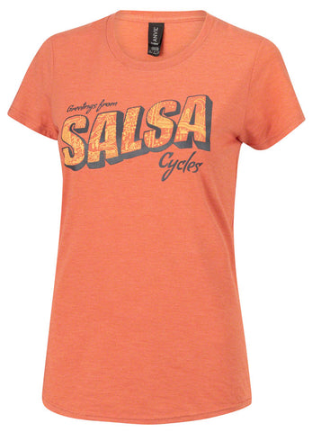 NEW Salsa Wish You Were Here T-Shirt - Women's, Orange