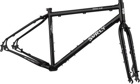 NEW Surly Bridge Club Frameset - Dark Black Touring Frame