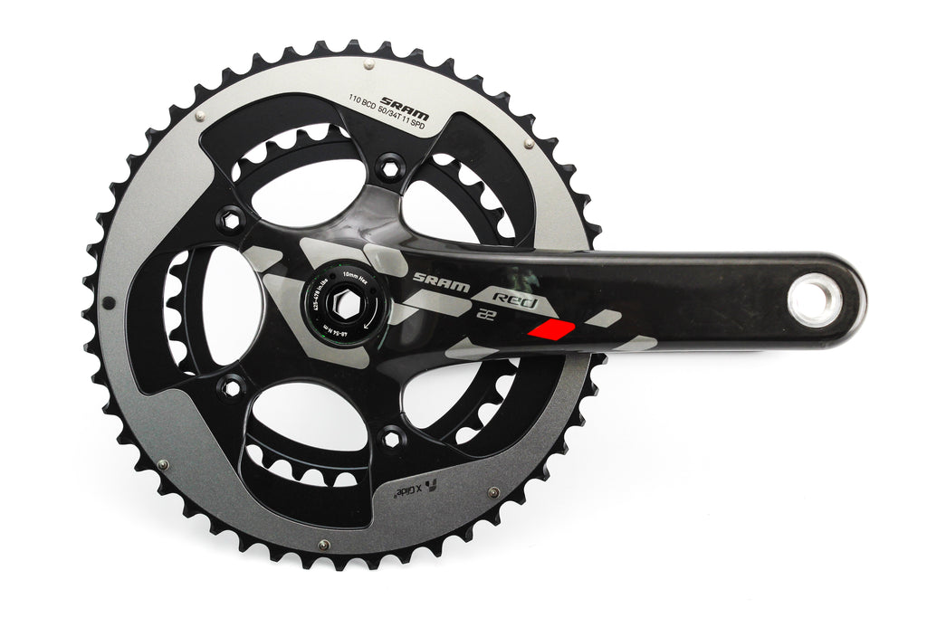 NEW Take Off Sram Red 22 Carbon Crankset 175mm 50/34T PF/BB30 Road Bike Compact