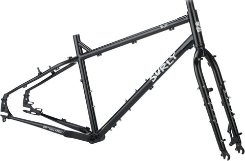 NEW Surly Troll Frameset - Black Touring Frame