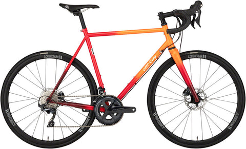 NEW All-City Zig Zag Ultegra - Orange/Red Fade Road Bike
