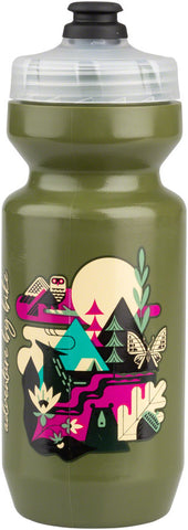 NEW Salsa Meander Purist Water Bottle - Forest Green, 22oz