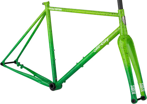 NEW All-City Nature Boy A.C.E. - Green Fade Splatter Cyclocross Frame