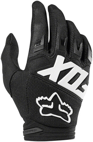 NEW Fox Racing Youth Dirtpaw Race Gloves - Black, Full Finger