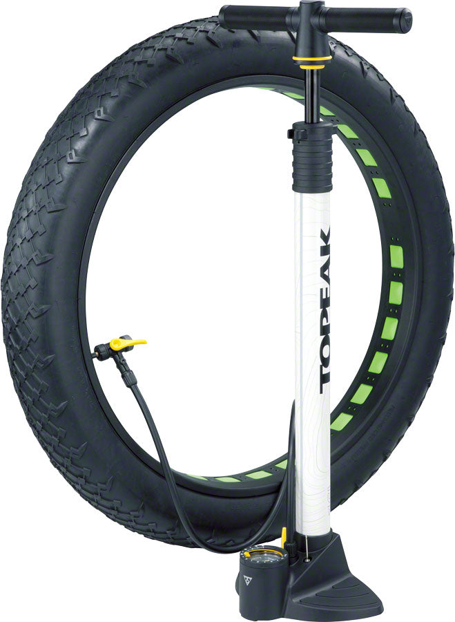 NEW Topeak JoeBlow Fat Floor Pump White
