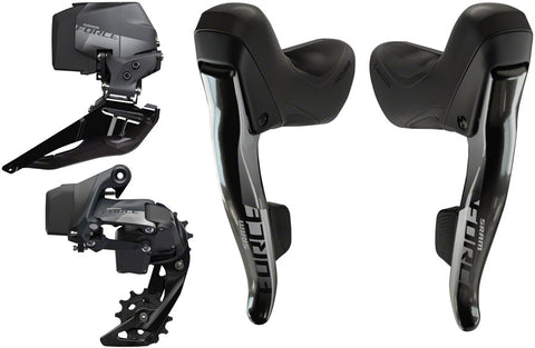 NEW SRAM Force eTap AXS Electronic Road Groupset - 2x, 12-Speed, Cable Brake/Shift Levers, eTap AXS Front and Rear Derailleurs, D1