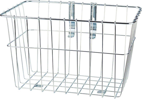 NEW Wald 1352 Front Grocery Basket with Adjustable Legs Silver