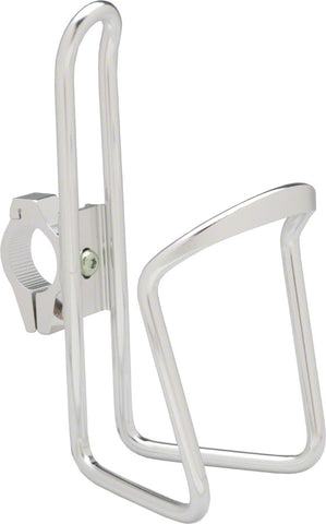NEW Dimension Water Bottle Cage with adjustable HB clamp: Silver