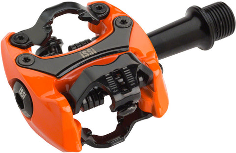 "NEW iSSi Flash II Pedals - Dual Sided Clipless, Aluminum, 9/16"", Orange"