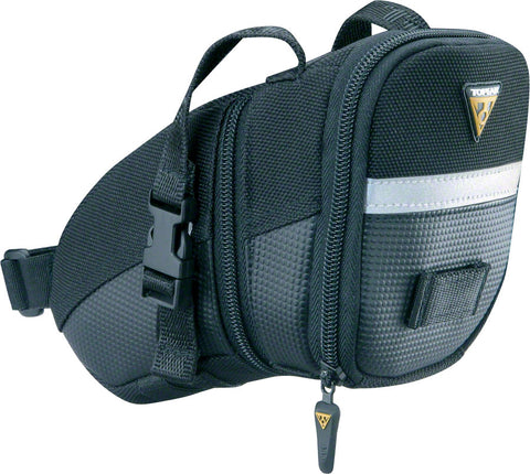 NEW Topeak Aero Wedge Seat Bag: MD, Black